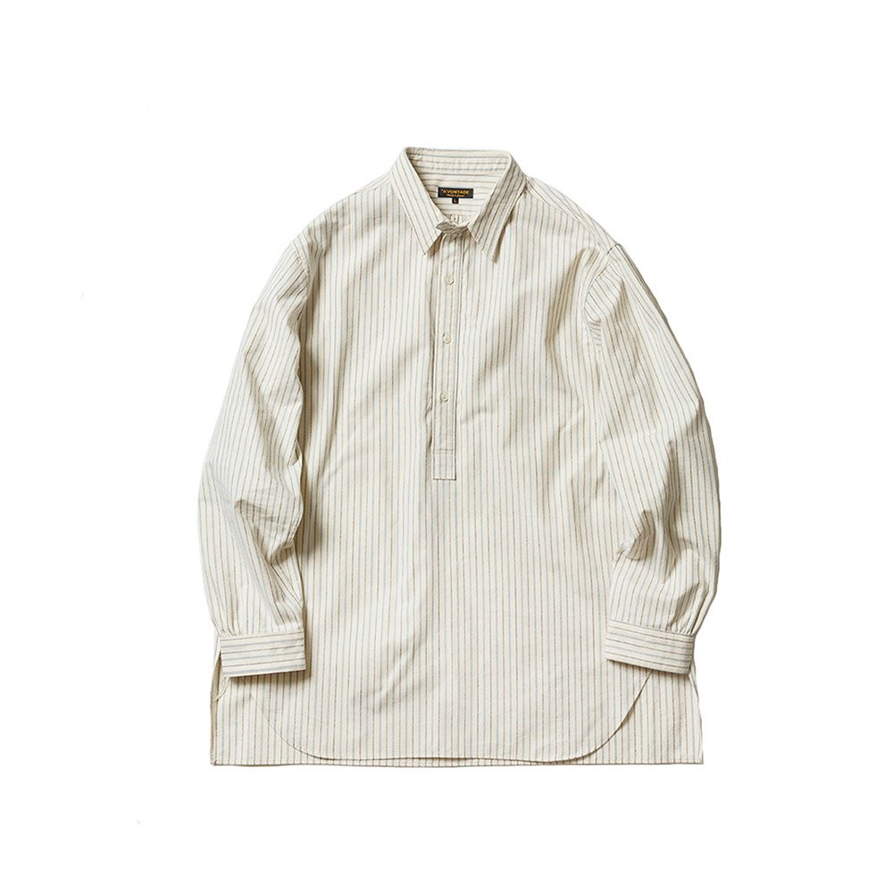 Classic Pullover Shirts -Cotton/Nepped Silk Brushed Sheeting-