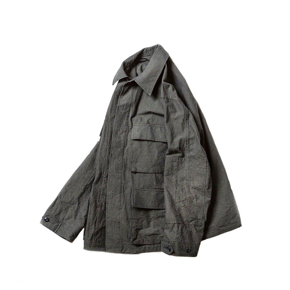 BDU Tropical Jacket -Wool/Cotton Buff Cloth-