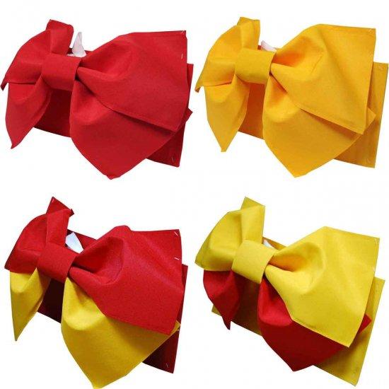 【日本製】簡単着付け!浴衣 結び帯 作り帯 赤