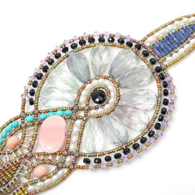 ZIIO ジーオ ムラノベネチアンガラスビーズ&蛍石ブレスレット 030-474010-9904