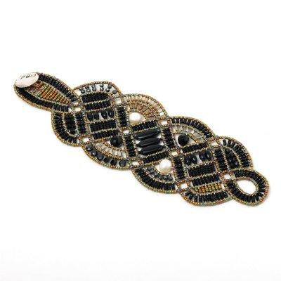 ZIIO ジーオ ボヘミアガラスビーズ&ブラックオニキスブレスレット 030-46400002-9003