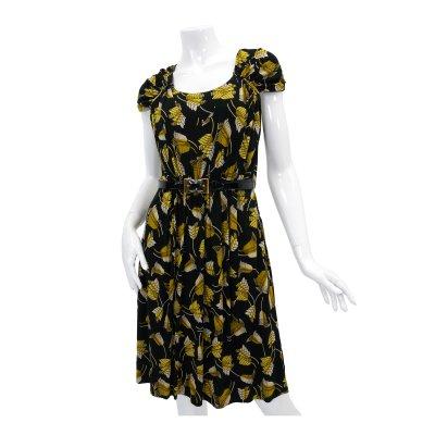GUCCI グッチ Yellowベルフラワープリントドレス 009-186743-1578