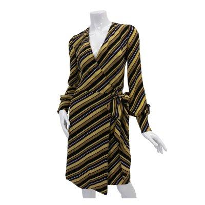 GUCCI グッチ ストライプラップドレス 009-169307-9232