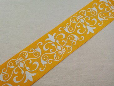 wide golden yellow damask 3inch アメリカusaリボンのcandies