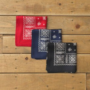 UNUSED アンユーズド emblem pattern silk bandana. エンブレムシルクバンダナ UH0421