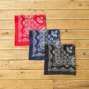 UNUSED アンユーズド flower pattern silk bandana. フラワーパターンシルクバンダナ UH0414