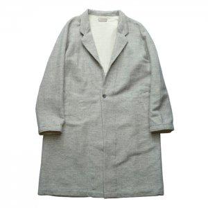 AUGUSTE-PRESENTATION pajama look オーギュストプレゼンテーション ウール/綿 2重織 スタンドカラーコート AUPJAW001
