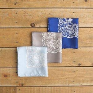 UNUSED アンユーズド american flower pattern silk bandana. シルクバンダナ UH0439