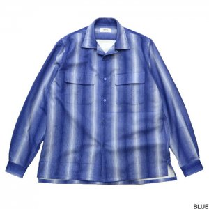 Riprap リップラップ  3M STRIPE SEMI-OPEN COLLAR SHIRTS RRS0502