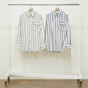 <img class='new_mark_img1' src='//img.shop-pro.jp/img/new/icons50.gif' style='border:none;display:inline;margin:0px;padding:0px;width:auto;' />UNUSED アンユーズド stripe shirt. ストライプシャツ US1485