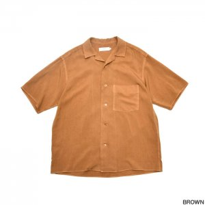 Graphpaper グラフペーパー Soft Cupro Open Collar Shirts GM191-50023