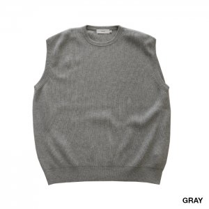 Graphpaper グラフペーパー High Density Cotton Knit Vest GM201-80073