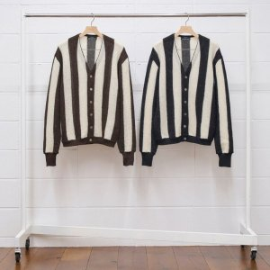 <img class='new_mark_img1' src='https://img.shop-pro.jp/img/new/icons1.gif' style='border:none;display:inline;margin:0px;padding:0px;width:auto;' />UNUSED アンユーズド alpaca stripe cardigan. US1869