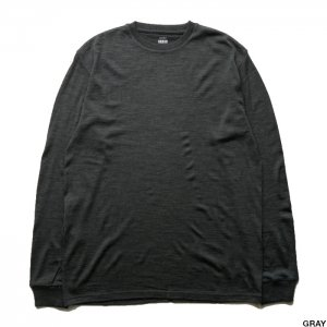 Graphpaper グラフペーパー Washable Wool Crew Neck Tee  GU203-70163B