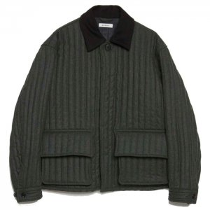 <img class='new_mark_img1' src='https://img.shop-pro.jp/img/new/icons50.gif' style='border:none;display:inline;margin:0px;padding:0px;width:auto;' />MATSUFUJI マツフジ Stripe Quilted Jacket M203-0101