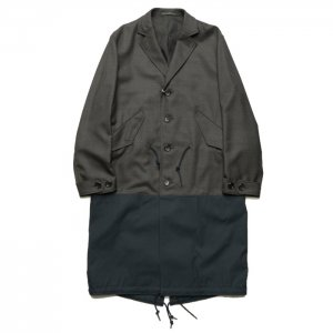 <img class='new_mark_img1' src='https://img.shop-pro.jp/img/new/icons16.gif' style='border:none;display:inline;margin:0px;padding:0px;width:auto;' />SALE COMME des GARCONS HOMME コムデギャルソン オム ウール×綿ウェザーコート HF-CO04-051