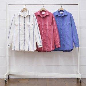 2021SS 先行予約 3月中旬お届け予定 UNUSED アンユーズド stripe shirt. US1998