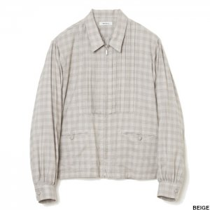 <img class='new_mark_img1' src='https://img.shop-pro.jp/img/new/icons1.gif' style='border:none;display:inline;margin:0px;padding:0px;width:auto;' />MATSUFUJI マツフジ Flannel Check Pleats Jacket M213-0301