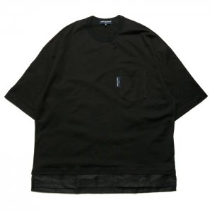 <img class='new_mark_img1' src='https://img.shop-pro.jp/img/new/icons50.gif' style='border:none;display:inline;margin:0px;padding:0px;width:auto;' />COMME des GARCONS HOMME コムデギャルソン オム 綿天竺 × ナイロンツイル Tシャツ HH-T001-051