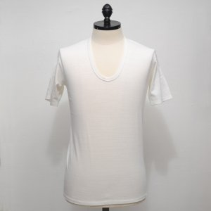 N.HOOLYWOOD Under Wear Line(N.ハリウッド) U NECK SHORT SLEEVE (WHITE) 37pieces