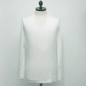 N.HOOLYWOOD Under Wear Line(エヌハリウッド) U NECK LONG SLEEVE (WHITE) 42pieces