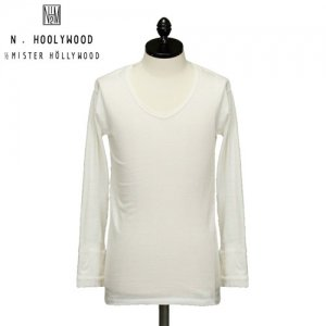 N.HOOLYWOOD Under Wear Line(エヌハリウッド) V NECK LONG SLEEVE (WHITE) 44pieces