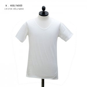N.HOOLYWOOD Under Wear Line(N.ハリウッド) V NECK SHORT SLEEVE (WHITE) 40pieces