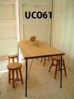 ●アイアン脚● ダイニングテーブル 【D・800】(ミディアム)