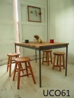 ●アイアン脚●【frame】1200 ダイニングテーブル (ダーク)