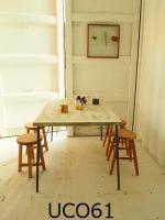 ●アイアン脚● ダイニングテーブル 【D・800】(シャビー加工)