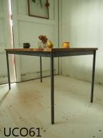 ●アイアン脚●【frame】1400 ダイニングテーブル (ダーク)
