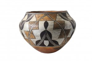 <img class='new_mark_img1' src='//img.shop-pro.jp/img/new/icons5.gif' style='border:none;display:inline;margin:0px;padding:0px;width:auto;' />ANTIQUE ACOMA PUEBLO POLYCHROME USED WATER JAR (AP005)