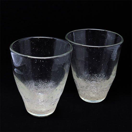 彩砂 中泡グラス