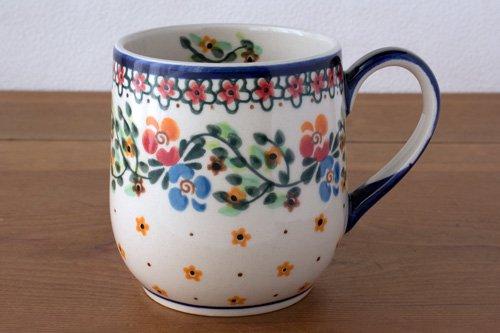 ポーランド陶器 ボレスワヴィエツ「ミレナ社」ぽってりマグ