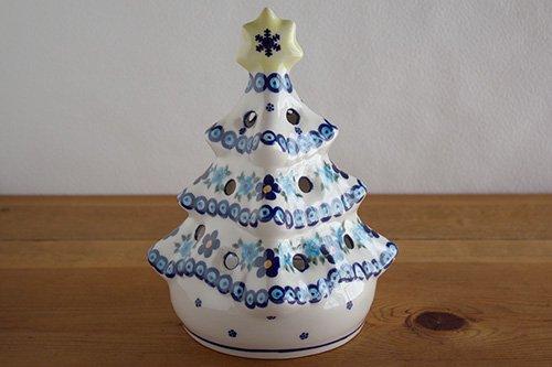 「VENA」クリスマスツリー【藍色×水色小花】