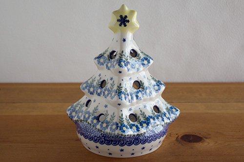 「VENA」クリスマスツリー【白縁・水色の花】