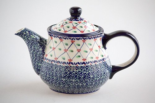 ポーランド陶器 ボレスワヴィエツ「ミレナ社」ティーポット 1L