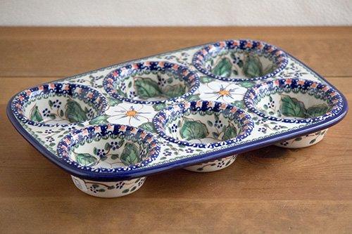 ポーランド陶器 ボレスワヴィエツ「ミレナ社」マフィン型