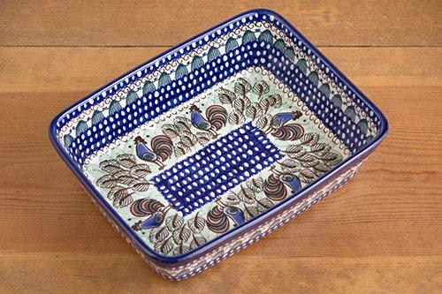 ポーランド陶器「アルテ」長方形オーブンディッシュ深め