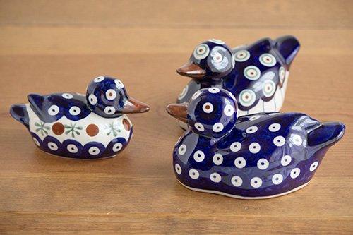 ポーランド陶器 ボレスワヴィエツ「ボレスワヴィエツ社」アヒル