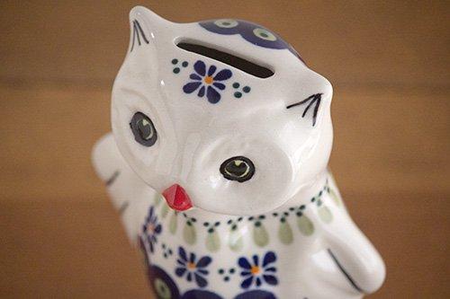 ポーランド陶器 ボレスワヴィエツ「ボレスワヴィエツ社」ふくろうさん貯金箱