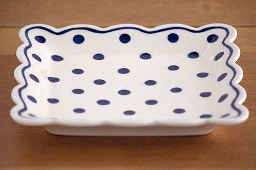 ポーランド陶器「ボレスワヴィエツ社」スクエアプレート 16cm