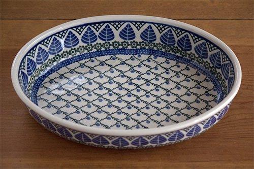 ポーランド陶器「アルテ」オーバルオーブンディッシュ