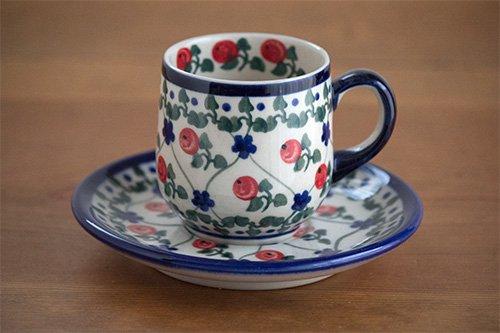 ポーランド陶器 ボレスワヴィエツ「ミレナ社」エッグカップ