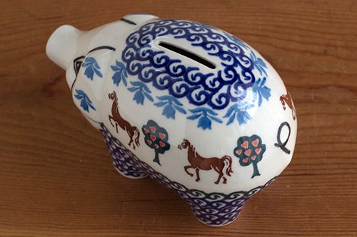 ポーランド陶器「アルティスティッチナ社」ぶた貯金箱