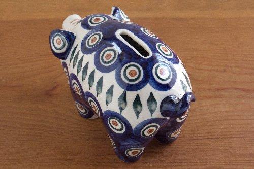 ポーランド陶器 ボレスワヴィエツ「WIZA社」ブタ貯金箱