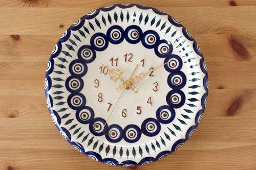 ポーランド陶器 ボレスワヴィエツ「WIZA社」時計丸型