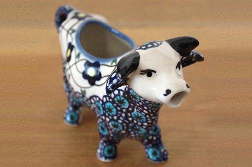 ポーランド陶器 ボレスワヴィエツ「WIZA社」牛クリーマー