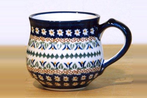 ポーランド陶器 ボレスワヴィエツ「ボレスワヴィエツ社」こぶりな コーヒーマグ 230cc