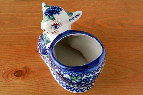 ポーランド陶器 ボレスワヴィエツ「VENA社」うさぎバスケット